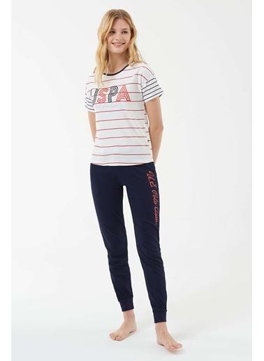 U.S. Polo Assn. Kadın Pijama Takımı Kırmızı